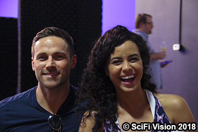 Dylan Bruce and Parisa Fitz-Henley