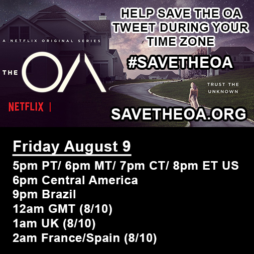Save The OA Live Tweet Fan Event
